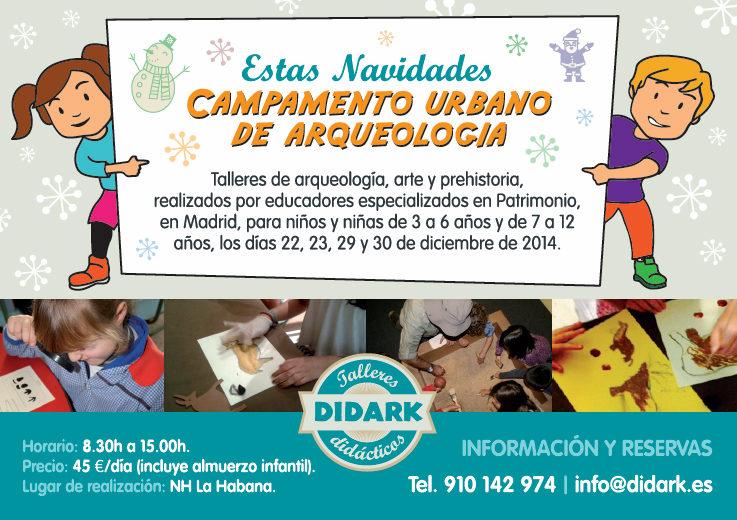 Cartel del campamento urbano de Didark para la Navidad 2014