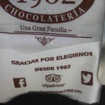 Servilletero de la chocolatería Los Artesanos 1902 de Madrid
