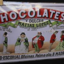 Anuncio antiguo en la chocolatería Los Artesanos 1902