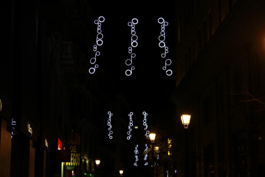 Luces de Navidad en Madrid 2014: Calle Ballesta