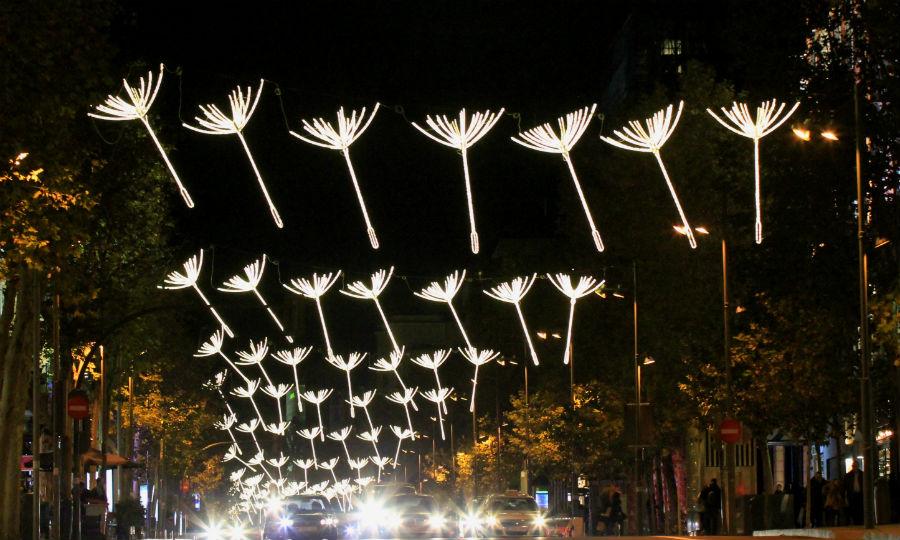 Luces de Navidad en Madrid 2014: Calle Serrano