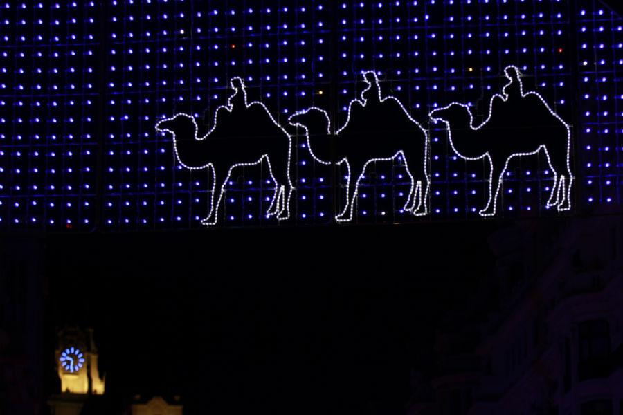 Luces de Navidad en Madrid 2014: Gran Vía