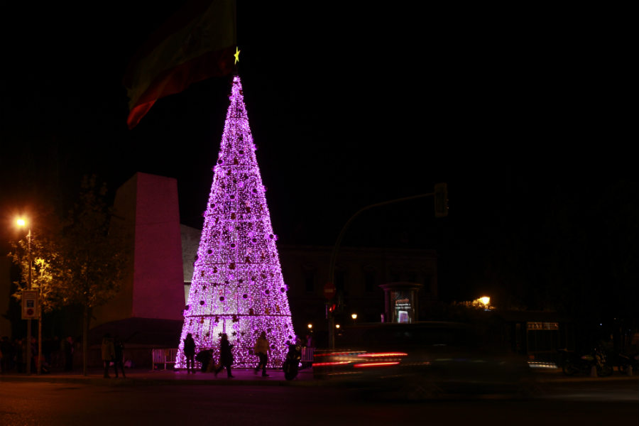 Luces de Navidad en Madrid 2014: Plaza Colón
