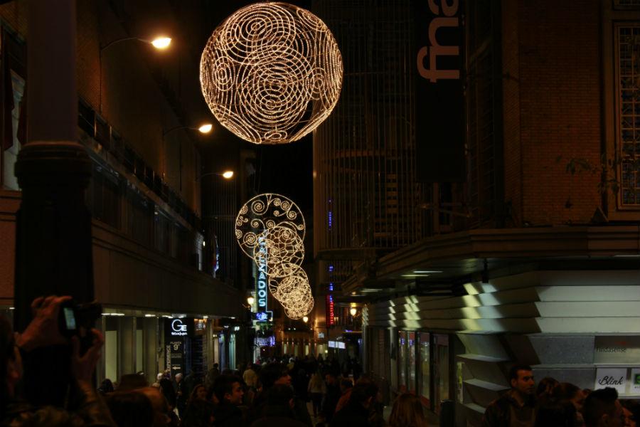 Luces de Navidad en Madrid 2014: Preciados
