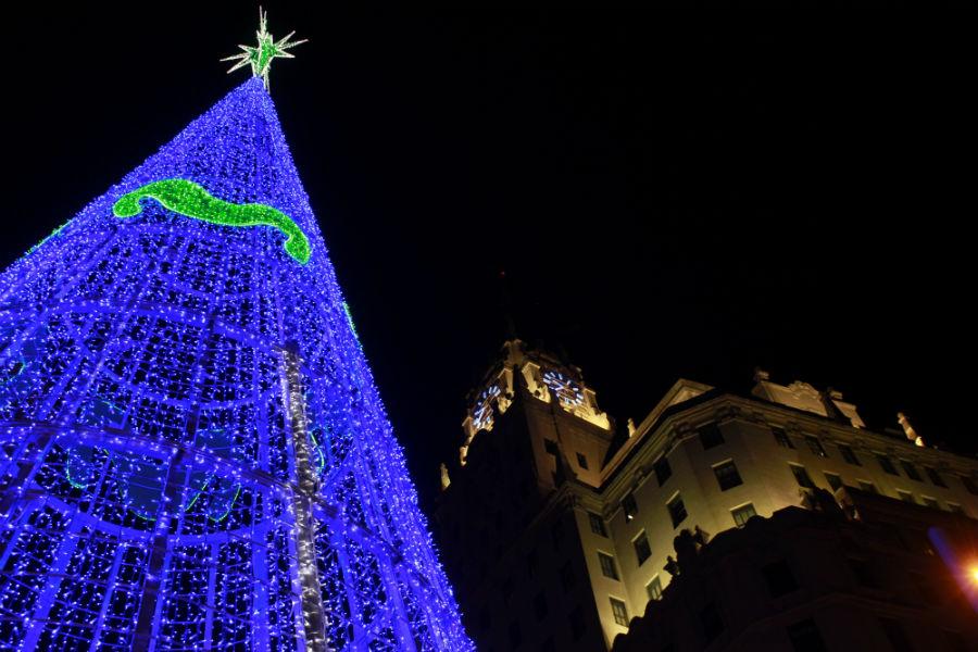 Luces de Navidad en Madrid 2014: Red de San Luis
