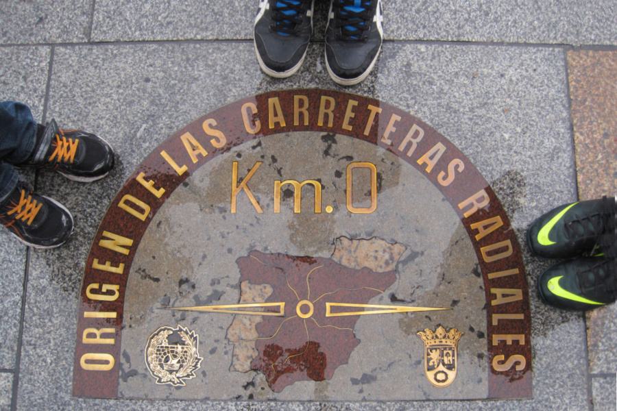 Kilómetro Cero, en la Puerta del Sol de Madrid