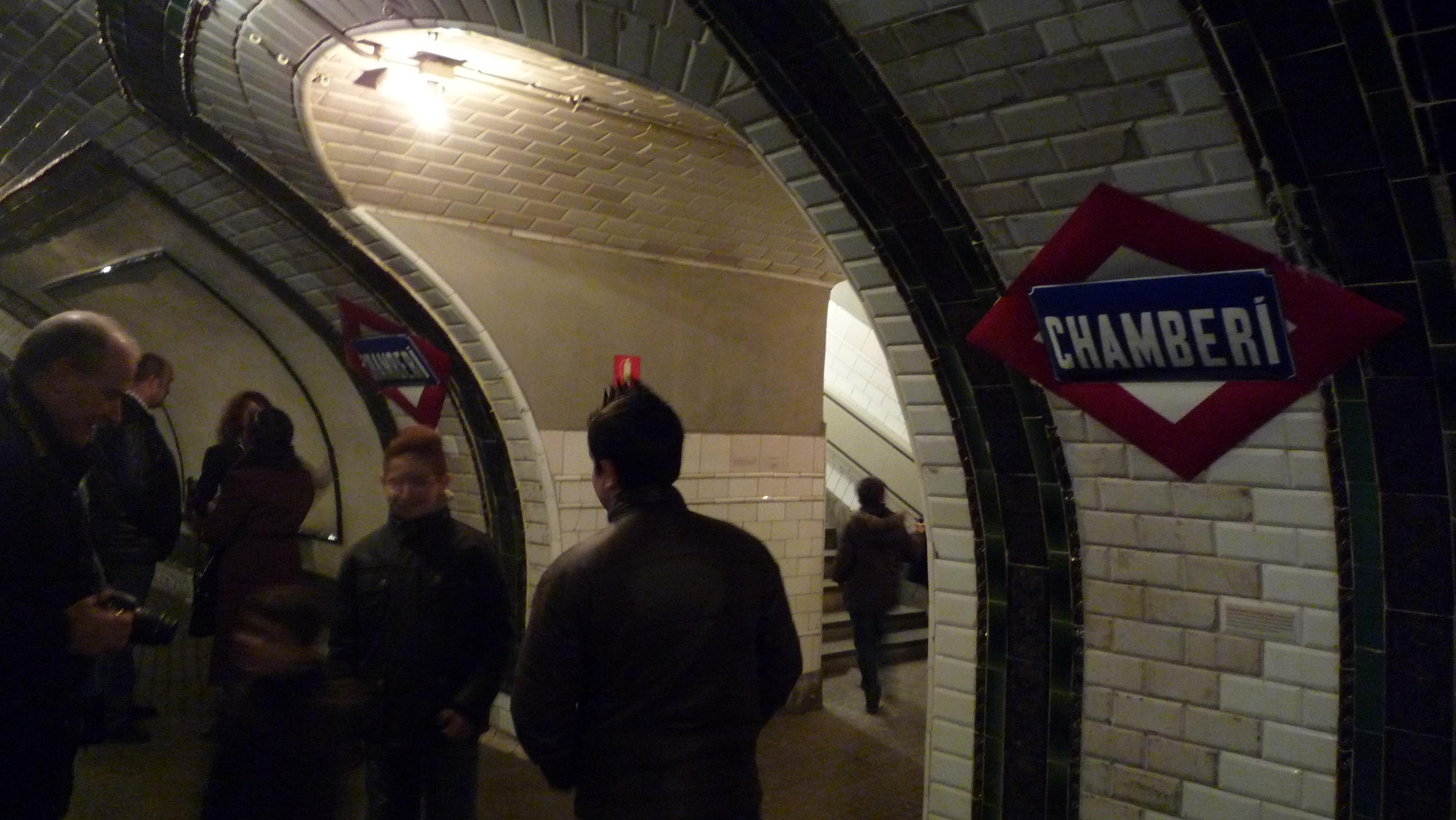 El Andén Cero es la antigua estación de Chamberí del Metro de Madrid