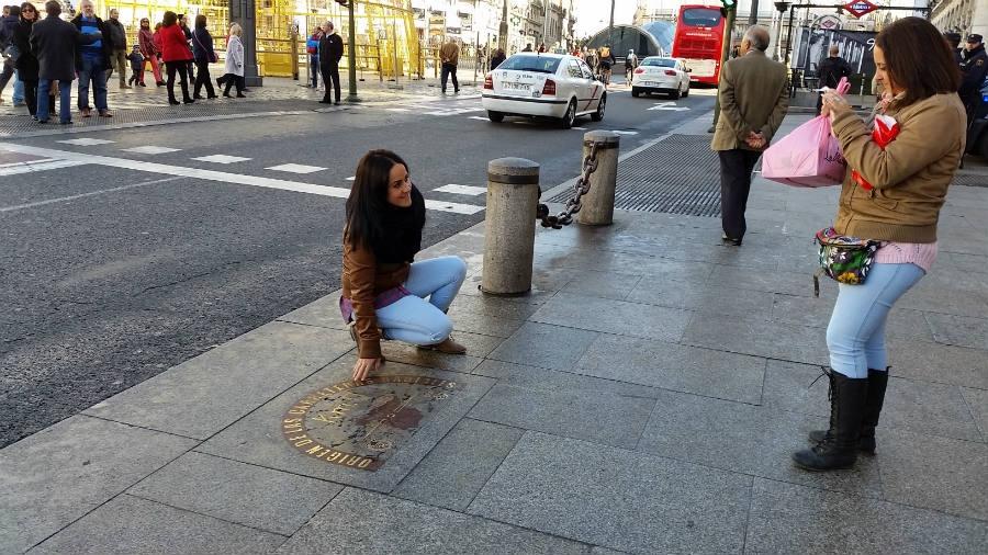 Km 0, en la Puerta del Sol