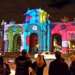 Puerta de Alcalá, con espectáculo de iluminación
