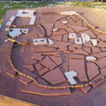 Maqueta de la antigua muralla de Madrid