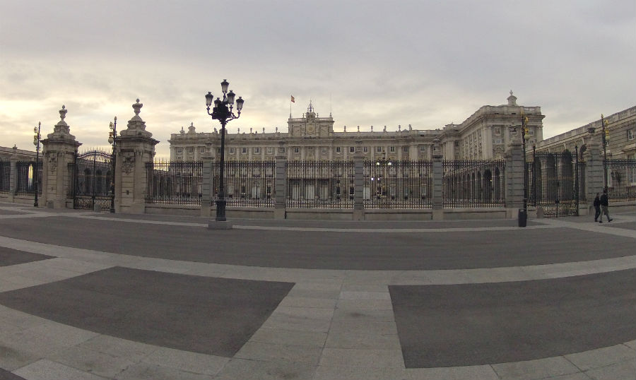 Imagen del Palacio Real de Madrid, en la Plaza de Oriente