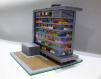 Sede del INE, construido con piezas de LEGO