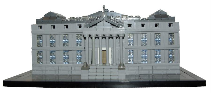Palacio de las Cortes, construido con piezas de LEGO