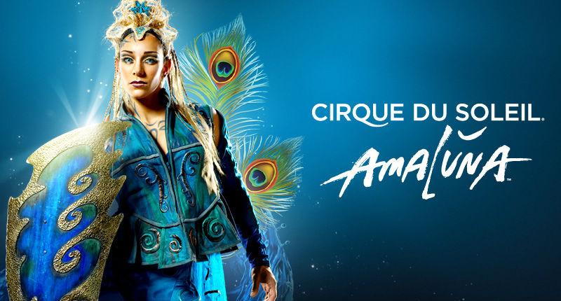 Cartel del espectáculo AmaLuna, del Cirque Du Soleil