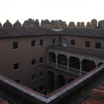 Patio del Castillo de Coca, Segovia