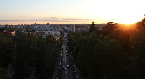 Vistas de Madrid desde Las Vistillas