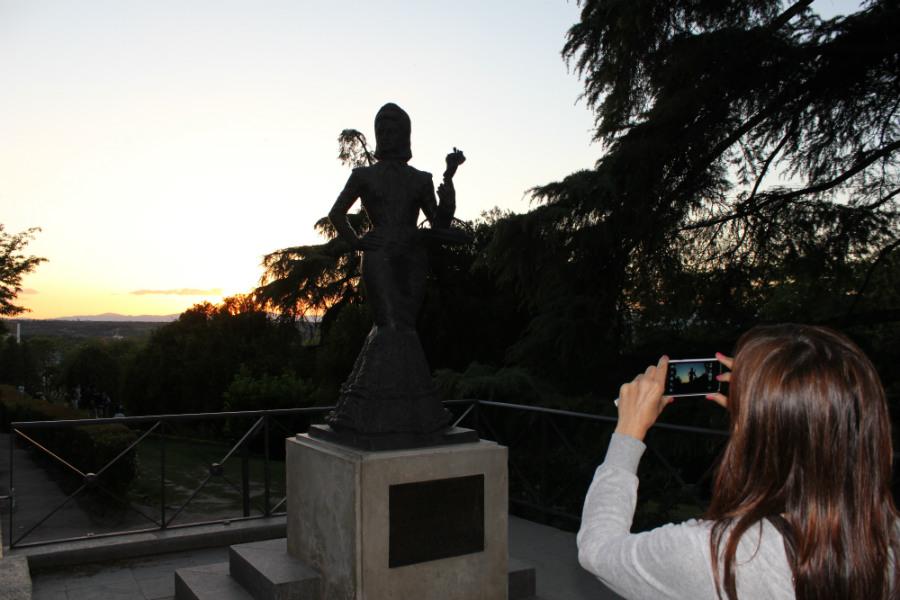 Estatua de La Violetera en Las Vistillas