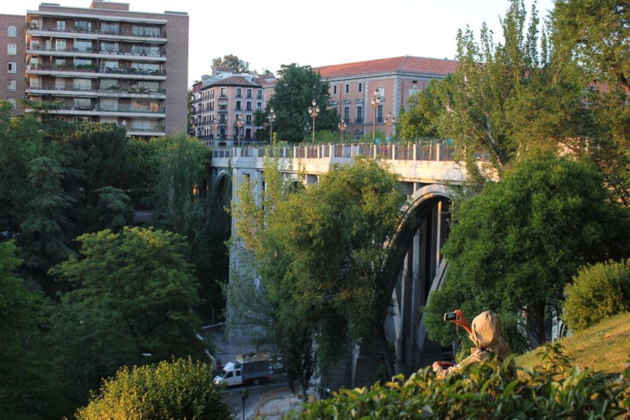 Vistas del Viaducto de Segovia desde Las Vistillas