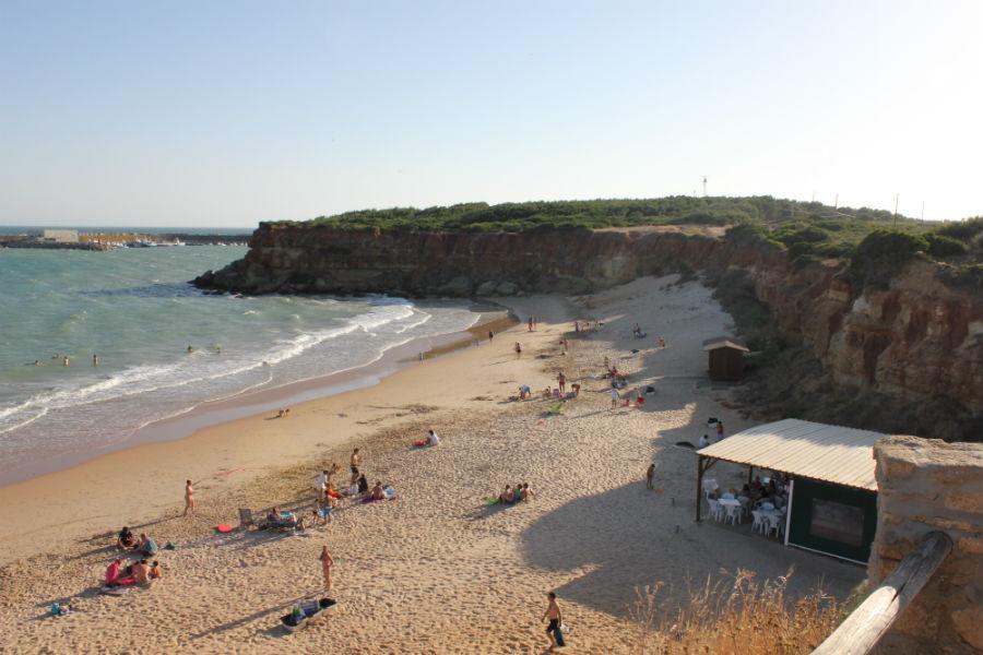 Playas de Cádiz sin viento de Levante: Cala del Aceite, en Conil