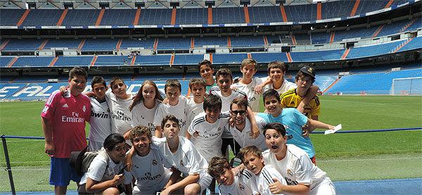 Campamentos de fútbol e inglés en el Bernabéu