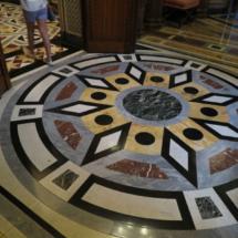 Detalle de uno de los suelos del Palacio de Linares