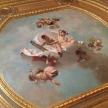Detalle de uno de los techos del Palacio de Linares