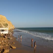 Playas de Cádiz sin viento de Levante: Fuente del Gallo, en Conil
