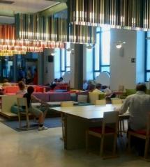 Centro de conversación del Palacio de Telecomunicaciones de Madrid, en Cibeles