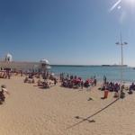 Playas de Cádiz sin viento de Levante