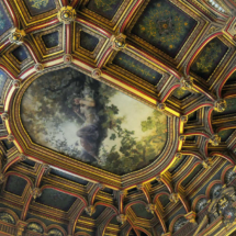 Techo de uno de los salones del Palacio de Linares