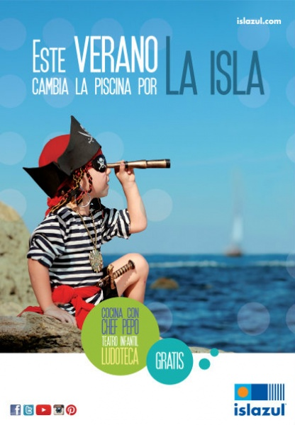 Cartel actividades infantiles Islazul verano 2015