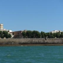 Vistas de la Bahía de Cádiz desde el Atlántico