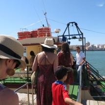 El barco de nuestra excursión por la Bahía de Cádiz era pesquero.