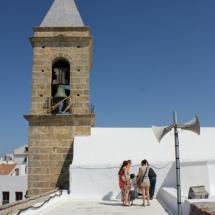 Campanario de la iglesia de Santa Catalina, en Conil de la Frontera