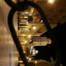 Vistas de la catedral de Teruel por la noche