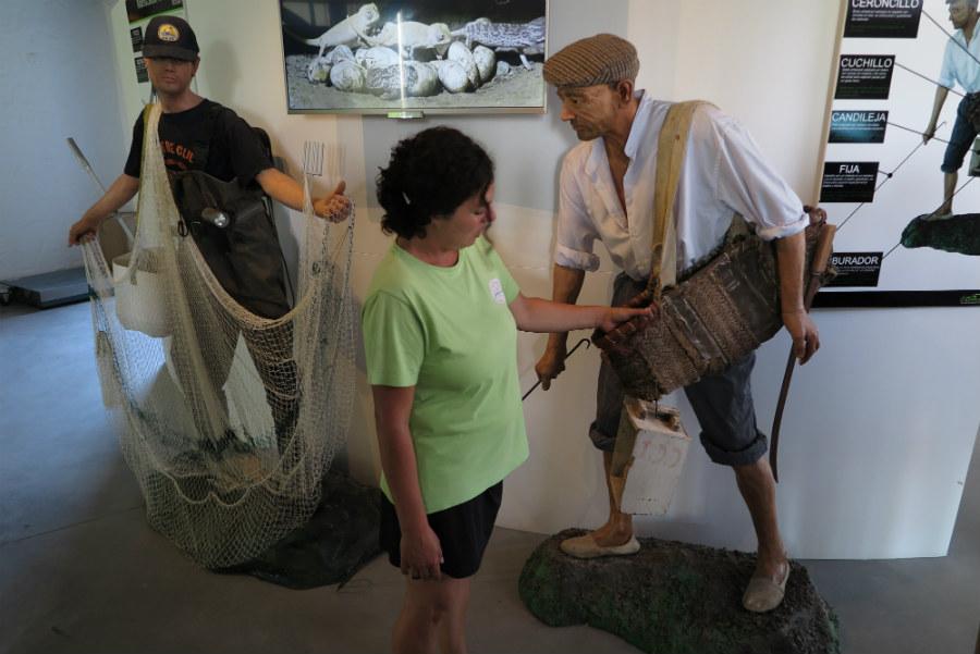 Representación de los catadores, pescadores de corral