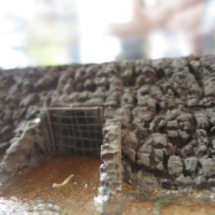 Representación de un corral de pesca en Chipiona