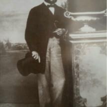 Retrato de época de Jaime Font, ingeniero constructor del Faro de Chipiona