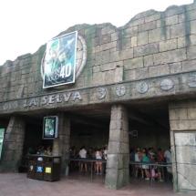 Fachada de una atracción en el Parque de Atracciones de Madrid