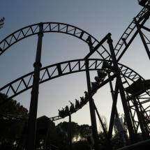 Montaña rusa del Parque de Atracciones de Madrid