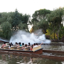 Atracción de agua en el Parque de Atracciones de Madrid