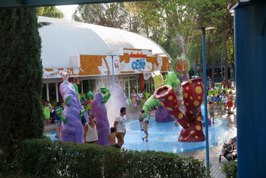 Una de las atracciones de agua del Parque de Atracciones de Madrid
