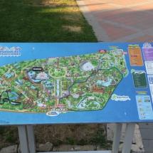 Plano del Parque de Atracciones de Madrid