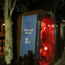 Cabina de secado del Parque de Atracciones