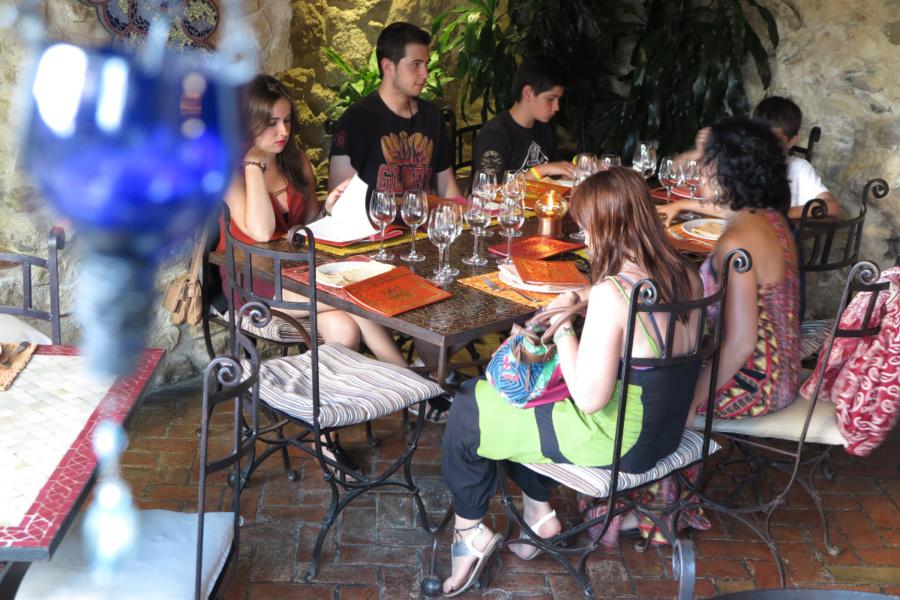 El Jardín del Califa es un restaurante muy acogedor en Vejer de la Frontera