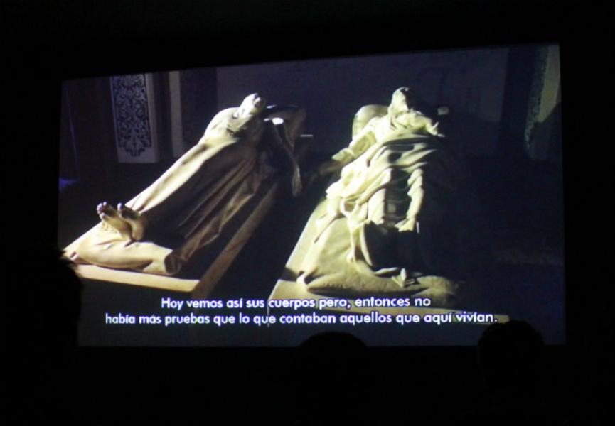Vídeos sobre los amantes de Teruel, en el Museo de los Amantes