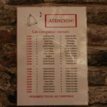 Cartel informativo de la Torre del Salvador, en Teruel