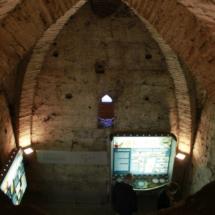 Interior de la Torre del Salvador, en Teruel