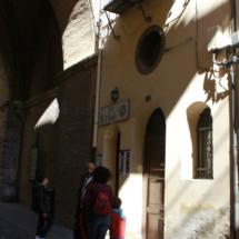 Fachada de la Torre del Salvador, en Teruel