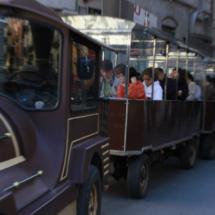 El trenecito turístico es una buena forma de dar un primer vistazo a Teruel